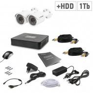 Комплект видеонаблюдения Tecsar 2OUT+1TБ HDD