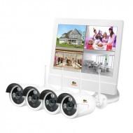 Outdoor Wireless Kit LCD 1MP 4xIP