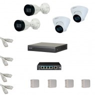 IP Комплект видеонаблюдения Dahua 2MP (FullHD) POE 2уличн-2купол(металл)