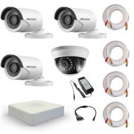 Комплект видеонаблюдения Hikvision Standart 3 уличн - 1 внутр