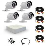 Комплект видеонаблюдения Hikvision Professional 4 уличные