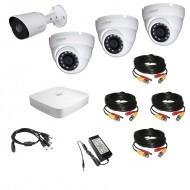 Комплект видеонаблюдения 4МП Dahua Ultra HD 1уличн - 3купол (металл)
