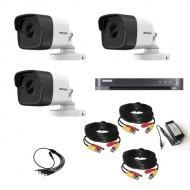 Комплект видеонаблюдения Hikvision Ultra HD 3 уличные (металл)