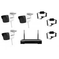 IP WIFI комплект видеонаблюдения на улицу 2 мп (3 камеры)