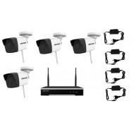 IP WIFI комплект видеонаблюдения на улицу 2 мп (4 камеры)
