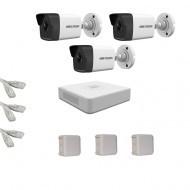 IP Комплект видеонаблюдения Hikvision(8) 2MP (FullHD) 3 цилиндр