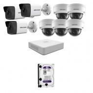 IP Комплект видеонаблюдения Hikvision(8) 2MP (FullHD) 3уличн-5купол