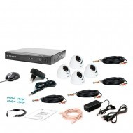 Комплект видеонаблюдения Tecsar 4OUT-2M-AUDIO DOME