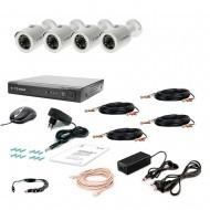 Комплект видеонаблюдения Tecsar 4OUT-2M-AUDIO