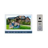 2 Мп Комплект видеодомофон SEVEN DP-7573FHD + вызывная панель SEVEN CP-7504FHD (120) Silver