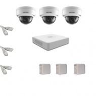 IP Комплект видеонаблюдения Hikvision(8) 2MP (FullHD) 3 купол