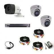 Комплект видеонаблюдения Hikvision Ultra HD 1 уличн -2  купол (металл)
