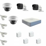 IP Комплект видеонаблюдения Hikvision Standart POE 2уличн-2купол(металл)