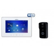Комплект ip видеодомофона Dahua DH-VTH5241DW-S2 и ip вызывной панели DH-VTO2111D-WP-S1