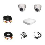 Комплект видеонаблюдения Dahua Ultra HD 2 купольные (металл)