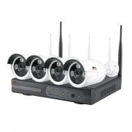 Комплект IP видеонаблюдения Partizan Outdoor Wireless Kit 1MP 4xIP v1.0