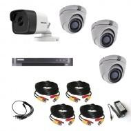 Комплект видеонаблюдения Hikvision Ultra HD 1уличн-3купол (металл)