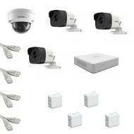 IP Комплект видеонаблюдения Hikvision Standart POE 3уличн-1купол(металл)
