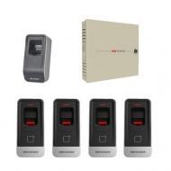 Комплект СКД с учетом рабочего времени - 2 двери - брелок\карта\отпечаток пальца  (MF) Proffesional