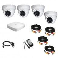 Комплект видеонаблюдения 4МП Dahua Ultra HD 4 купол (металл)
