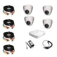 Комплект видеонаблюдения Dahua Ultra HD 4 купольные (металл)