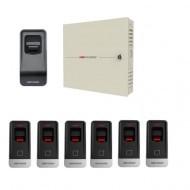 Комплект СКД с учетом рабочего времени - 3 двери - брелок\карта\отпечаток пальца  (MF) Proffesional