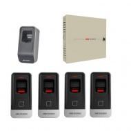 Комплект СКД с учетом рабочего времени - 2 двери - брелок\карта\отпечаток пальца  (EM) Proffesional