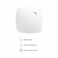 Беспроводной датчик детектирования дыма и угарного газа Ajax FireProtect Plus белый