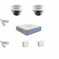 IP Комплект видеонаблюдения Hikvision Standart POE 2купольные(металл)