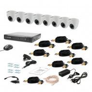 Комплект видеонаблюдения Tecsar 8IN-3M DOME