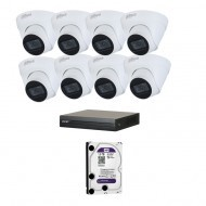 IP Комплект видеонаблюдения Dahua(8) 2MP (FullHD) 8 купол