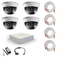 Комплект видеонаблюдения Hikvision Standart 4 внутренние