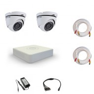 Комплект видеонаблюдения Hikvision Standart 2 купольные (металл)