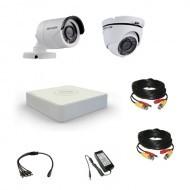 Комплект видеонаблюдения Hikvision Professional 1 уличн - 1 купол (металл)