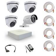 Комплект видеонаблюдения Hikvision Proffesional 1 уличн - 3 купол (металл)