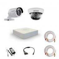 Комплект видеонаблюдения Hikvision Proffesional 1 уличн - 1 внутр