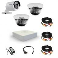 Комплект видеонаблюдения Hikvision Proffesional 1 уличн - 2 внутр