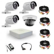 Комплект видеонаблюдения Hikvision Professional 3 уличн - 1 внутр