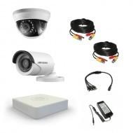 Комплект видеонаблюдения Hikvision Standart 1 уличн - 1 внутр