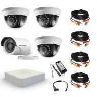 Комплект видеонаблюдения Hikvision Standart 1 уличн - 3 внутр