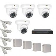 IP Комплект видеонаблюдения Partizan Professional POE 4купольные(металл)