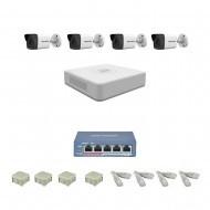 IP Комплект видеонаблюдения Hikvision Standart 4 цилиндрические