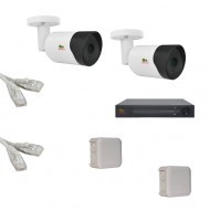 IP Комплект видеонаблюдения Partizan Professional POE 2 цилиндра(металл)