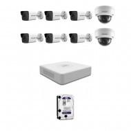 IP Комплект видеонаблюдения Hikvision(8) 2MP (FullHD) 6уличн-2купол