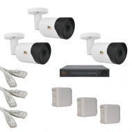 IP Комплект видеонаблюдения Partizan Professional POE 3 цилиндра(металл)