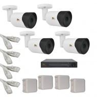 IP Комплект видеонаблюдения Partizan Professional POE 4 цилиндрические(металл)