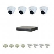 IP Комплект видеонаблюдения Dahua(8) 2MP (FullHD) 4 купол