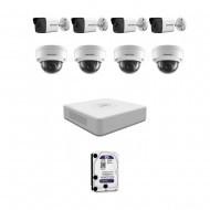 IP Комплект видеонаблюдения Hikvision(8) 2MP (FullHD) 4уличн-4купол