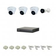 IP Комплект видеонаблюдения Dahua 2MP (FullHD) POE 1уличн-3купол(металл)