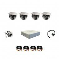 Комплект видеонаблюдения Hikvision Professional 4 внутренние